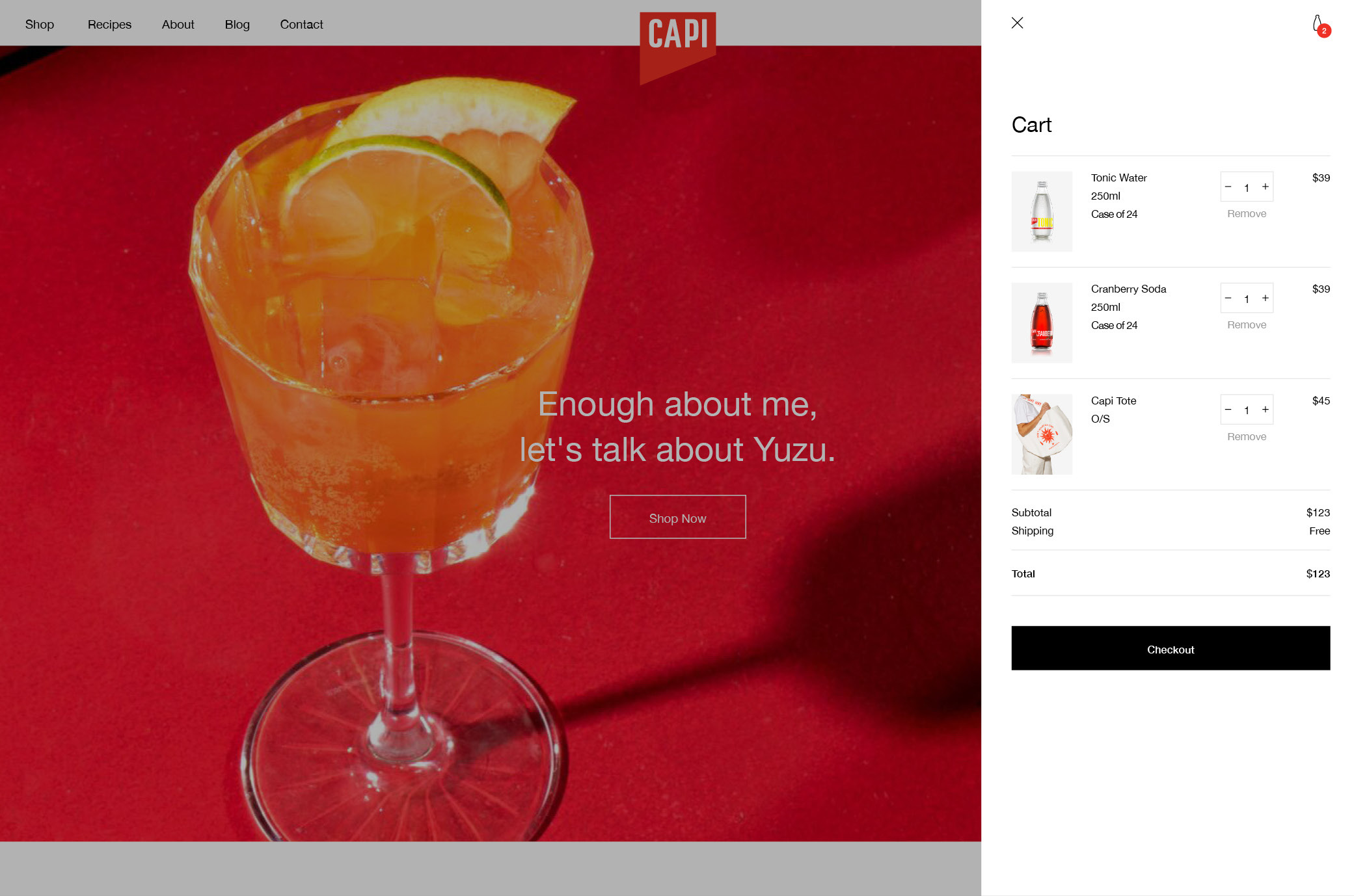 Capi Desktop Cart Side Tab